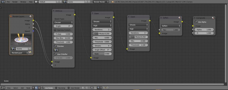 Compositing nodes
